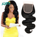 7A Unprocessed Virgin Brazilian Closure Body Wave Brazilian Lace Closure Free/2/3Part Virgin Human Hair Closure Virgin Body Wave