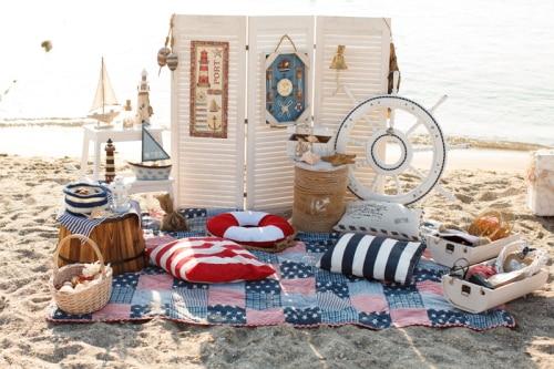 huayi decorativos barcos e faris na praia fotografia xtchina mainland