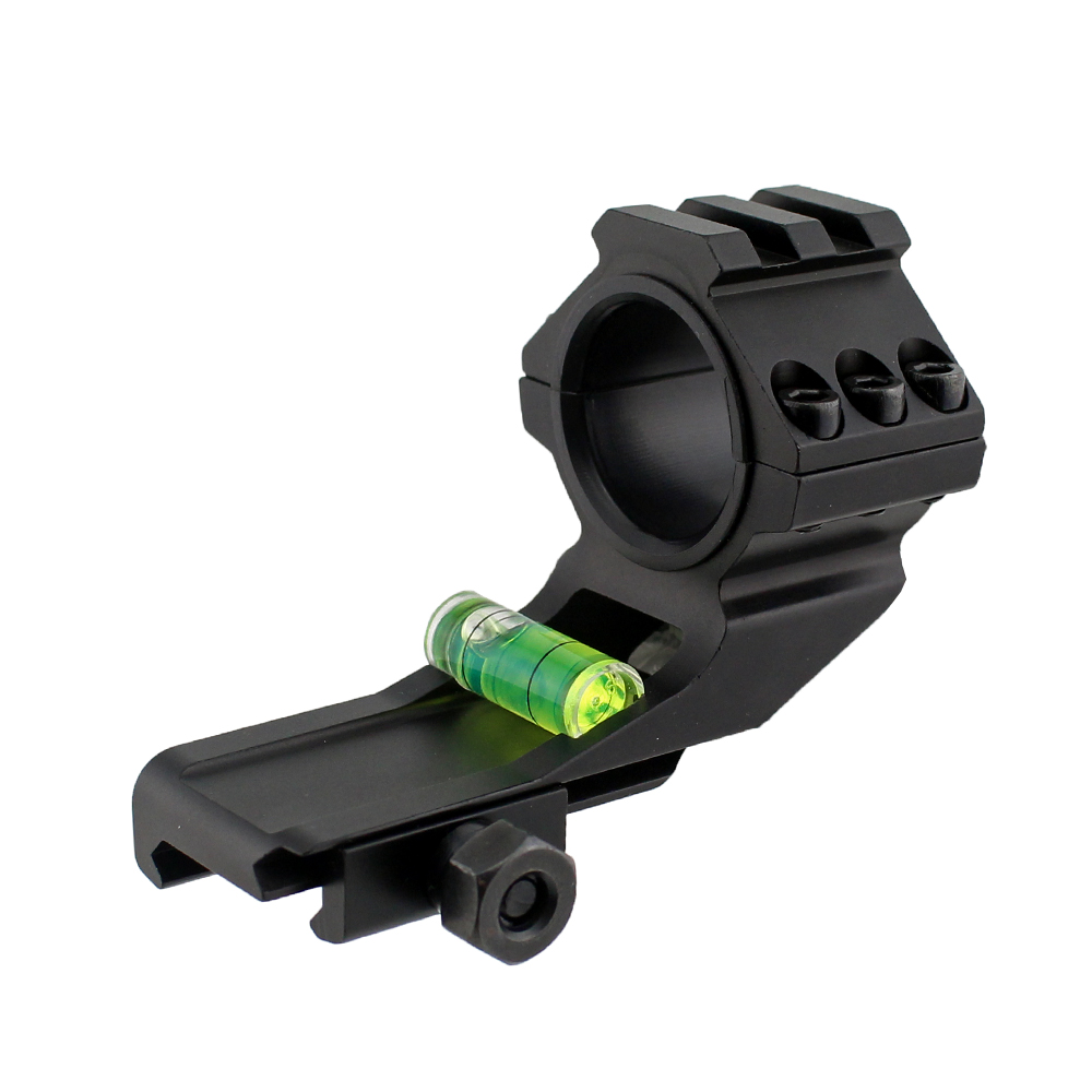 30mm Ring Scope Mount Cantilever W// 20mm Picatinny Rail /& Bubble Level for Rifle