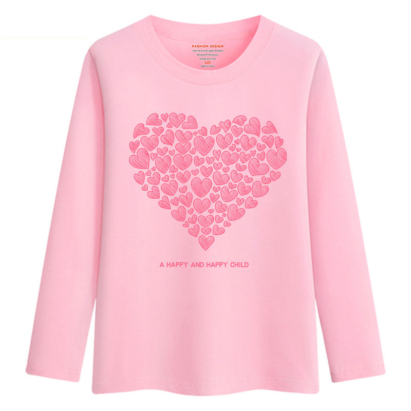 Image 5 - New Arrival Baby Girls Sweatshirt Spring Autumn 2019 Teenage Sweater Kids Clothes Girl Cotton Swan T shirt Long Sleeve Tees TopsTees   -