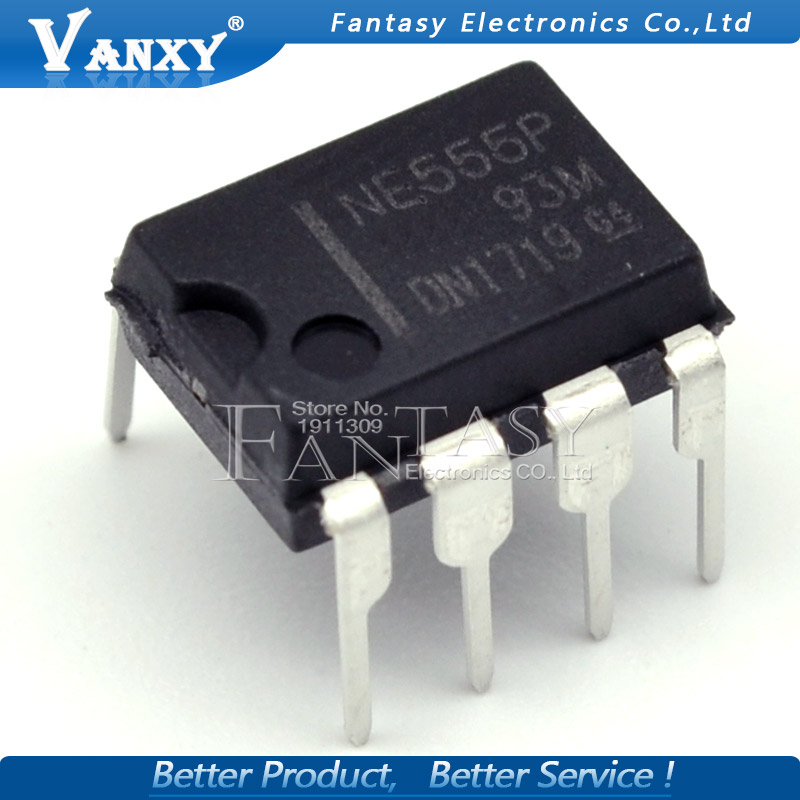 10PCS NE555P DIP8 NE555 DIP NE555N 555P DIP-8 New And Original IC