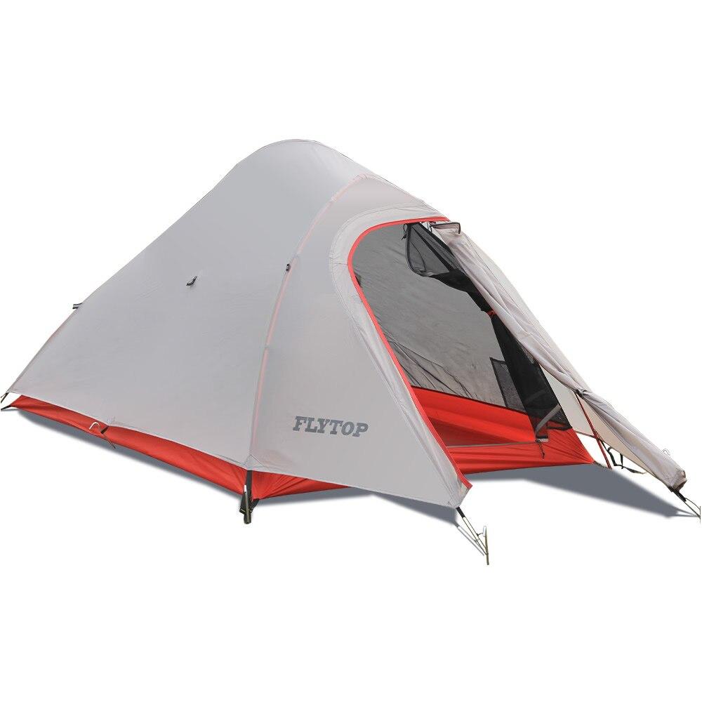 Windpoof Regendicht Silikonisierte Nylon Camping Zelt Ultraleicht Doppel Zelt Outdoor Camping Wandern Rucksack 1-2 Personen