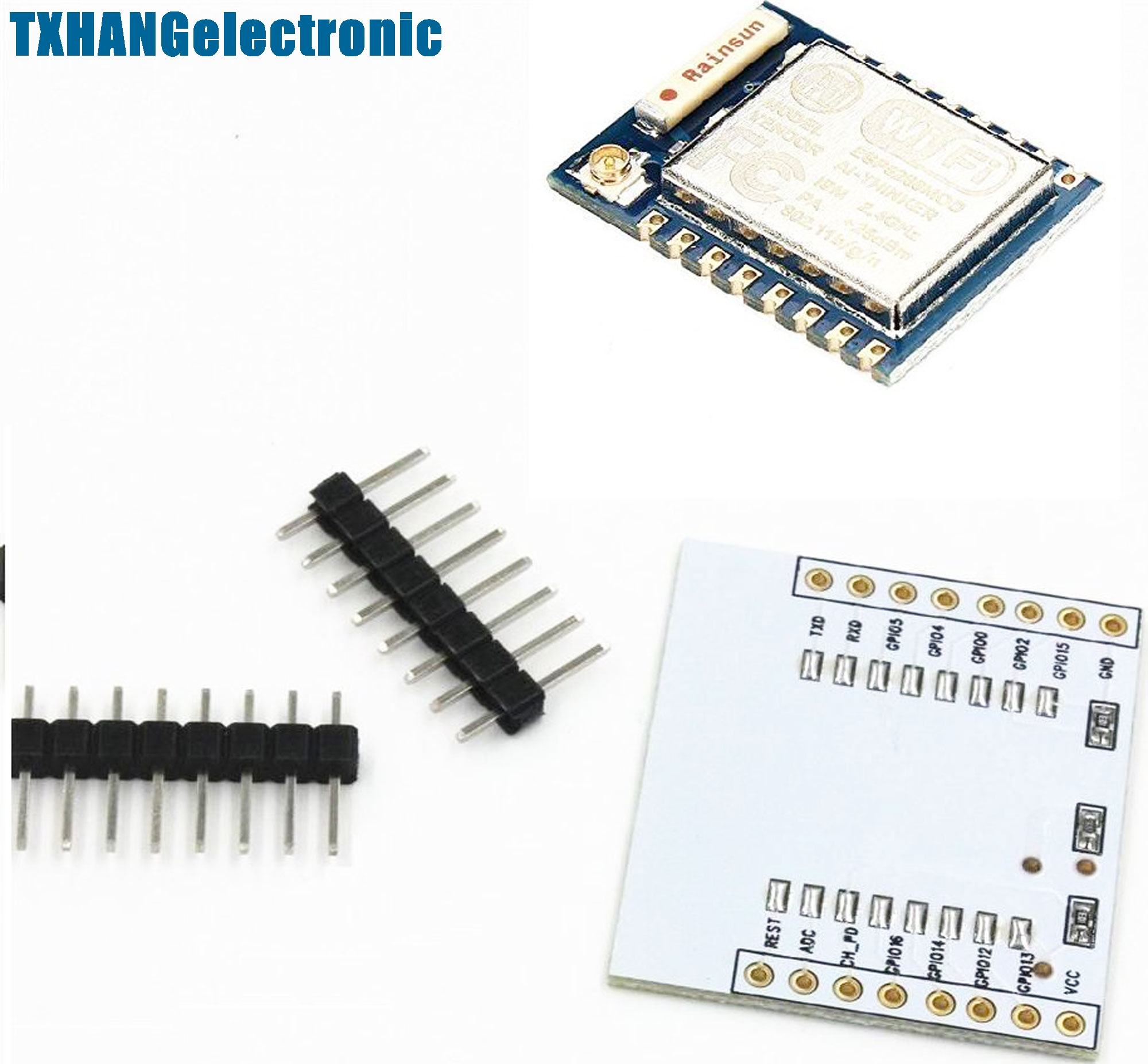 ESP8266 Esp-07 Remote Serial Port WIFI Module with IO adapter plate Expansion