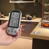 Wireless Remote Kitchen Thermometers Oven Food Cooking/BBQ Grill Smoker Meat Thermometer With Sensor Probe,Temperature Gauge