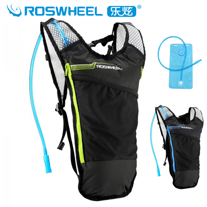 Roswheel Cycling Water Bag Backpack Mtb Road Bike Bicycle Rucksacks Sport Hiking Climbing Travel Hydration Backpack 2L Water Bag roswheel 22l ultralight cycling mountain bike bag hydration pack water backpack reflective bicycle bike hiking climbing pouch
