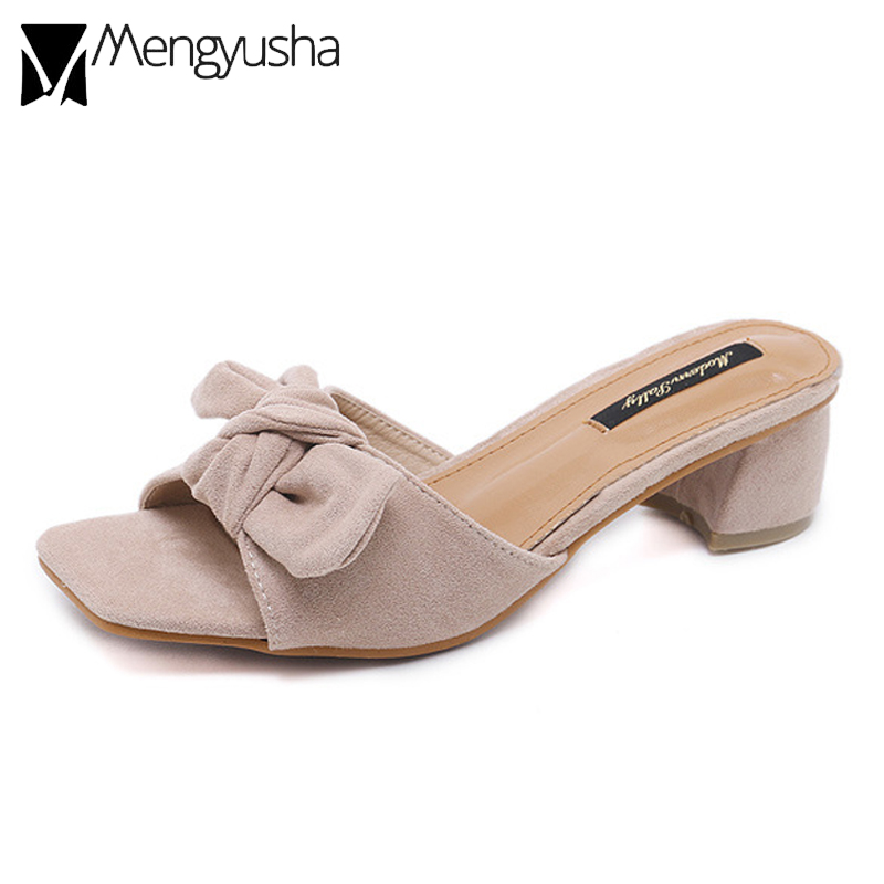 cf5302762c bow open summer beach chunky low lady comfort soft shoes fashion ...