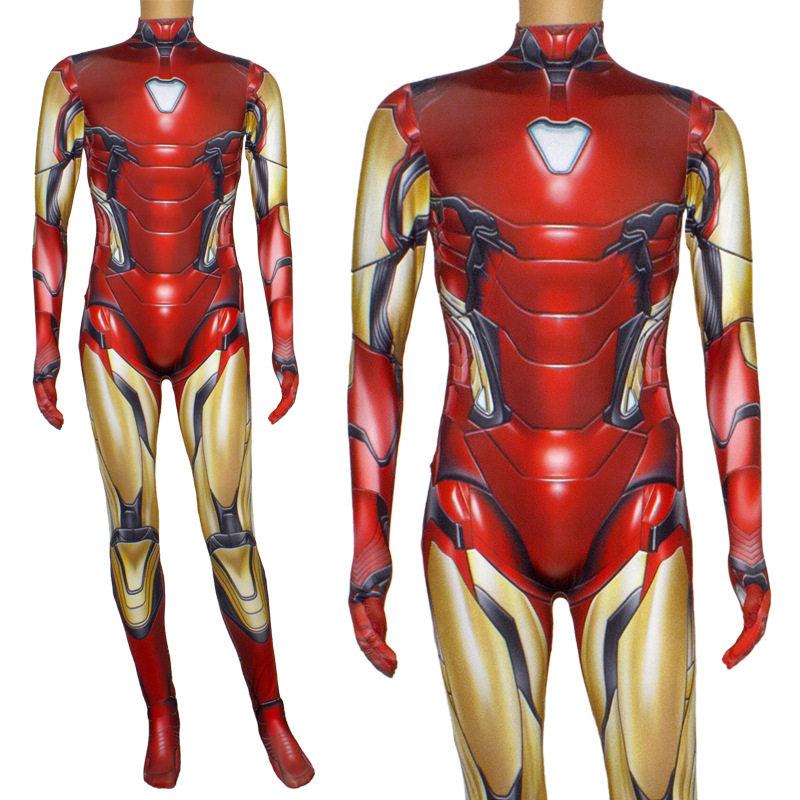 Image 5 - Iron Man Costume Adult Kids Endgame Superhero Costume Iron Man Cosplay Jumpsuit Halloween Costume For Adult Child Carnival Party