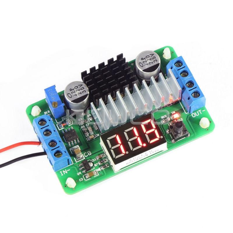 все цены на Mini LTC1871 100W/6A DC Power Source Step Up Converter DC DC 3.5V-30V 6A 100W Adjustable Converters +Red LED Voltmeter #090081 онлайн