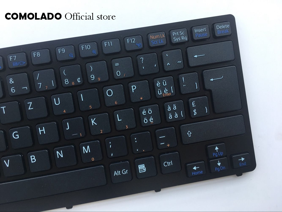 SW Swiss Keyboard For Sony Vaio VPC-CW VPC CW VPCCW CW16EC CW18FC CW26EC CW28EC CW2S3C CW2S6C Black with frame keyboard