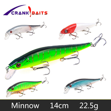 CRANK BAITS 5 Colors Hard Bait Minnow Fishing lures Peche Bass Trolling Artificial Hard Bait Crankbait Carp Fishing Tackle YB251 rompin 100pcs stainless steel split rings for blank lures crank bait hard bait carp fishing tools double loop 6mm 7mm 8mm