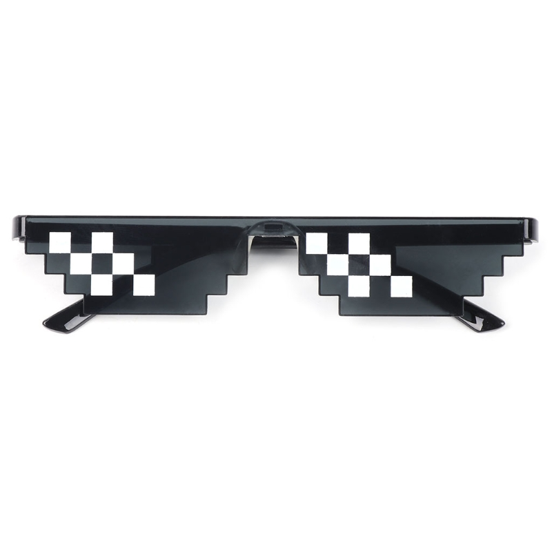 Funny Tricks Glasses 8 Bit Pixel Deal With IT Mosaic Sunglasses Trick Toy Unisex Sunglasses Toy For Children & Adults Funny Toys