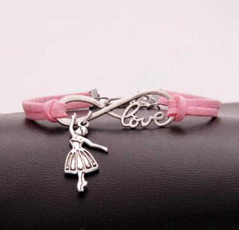 1PC Infinity Symbol 8 Leather Bracelet Bangle Men Women Jewelry Adjustable