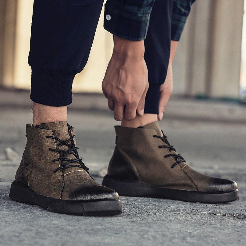 Botas 46 Fur De Khaki Sapatos Inverno Mais Black Black M Boots Homens Couro 7163m Sapatas 7163m Qualidade Fur Genuínos 7163m Khaki Negros Ankle Pele 39 Novos Dos Quente Tamanho 7163 7163m UrqpSUx
