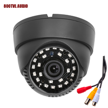 HOBOVISIN new audio Dome camera 800TVL 1/4″ CMOS with IR-CUT 3.6mm lens 48 IR  with audio  cctv security  indoor camera