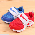 New 2016 Cool Breathable Sports Sneakers Hook&Loop Children's  Running shoes For Kids For Unisex for Summer #1826
