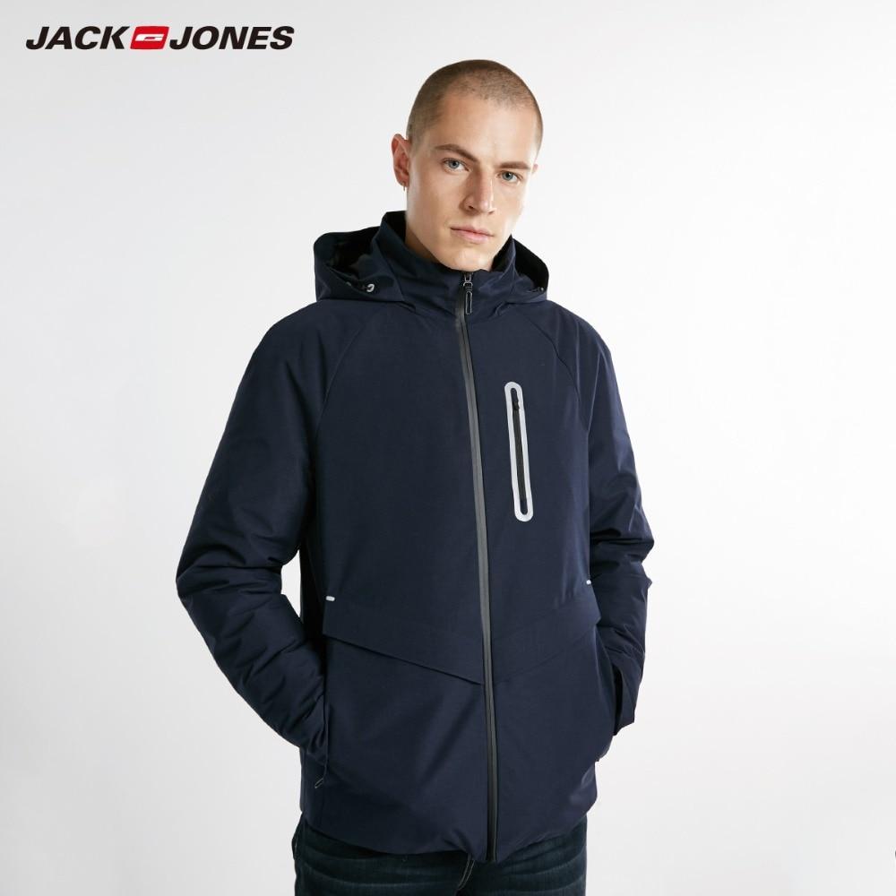 JackJones Men's Winter Short Hooded Outdoors Outerwear Winter Male Casual fashion   down   jacket   Coat   Menswear|218312521