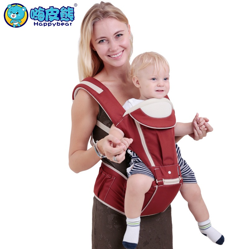 Happy Bear 2017 New Cotton 0-48 Months Multifunctional Back Front Facing Baby Carrie Baby Kangaroo Sling Wrap Four Season happy bear multifunctional baby sling lumbar bended baby lumbar stool horizontal hold four seasons breathable and lightweight
