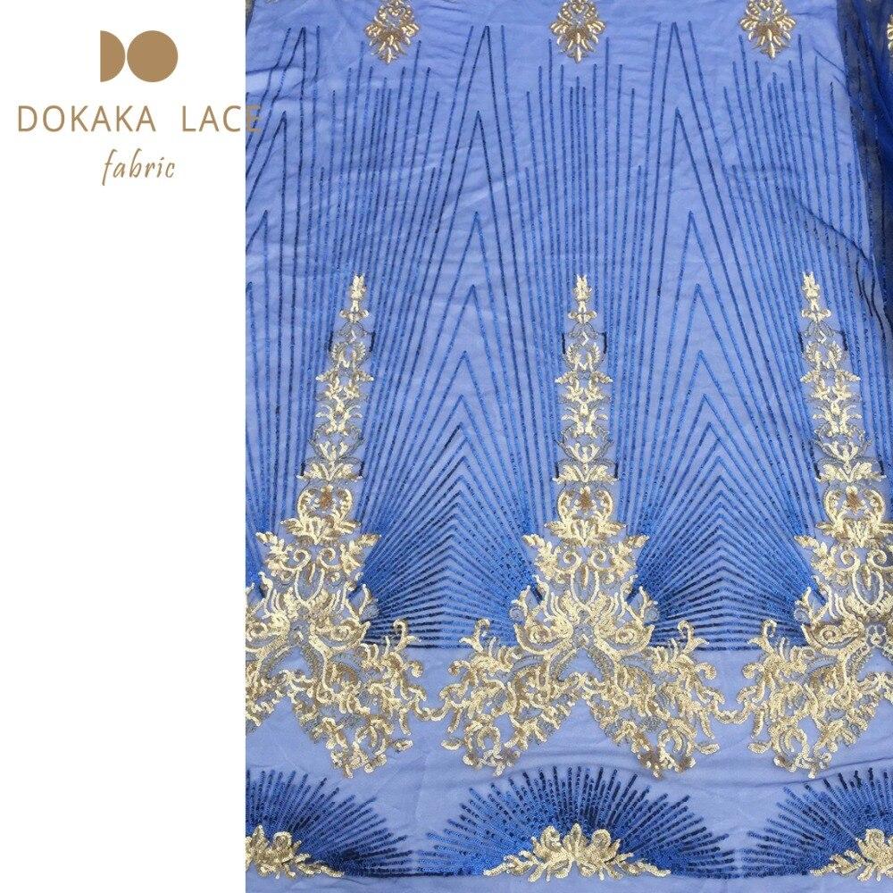 Złoty cekinami afryki koronki tkaniny netto 2018 wysokiej jakości tiulowej siateczki koronki w kolorze fioletowym dla Indian kobiety wieczorne Party materiał na odzież w Koronka od Dom i ogród na  Grupa 3