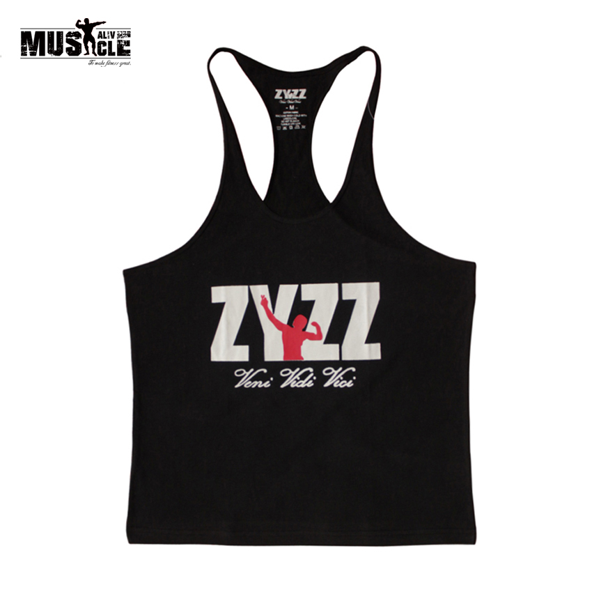 ZYZZ Fashion Golds Racerback   Tank     Top   Men bodybuilding Stringer Singlets Fitness Sleeveless Clothing Cotton academia regata