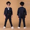 Wedding suits for Boys Formal dress Pure cotton Blazer Jacket sets Kids Tuxedo suit 3 pieces Clothing set