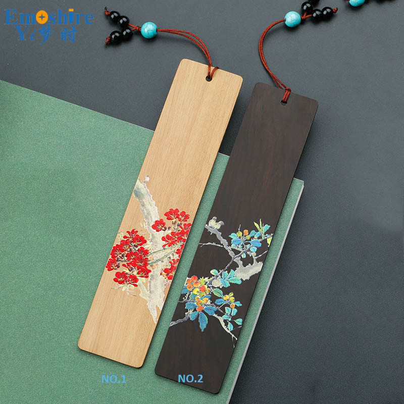 New Arrival Wooden Bookmark Painted Classical Bookmarks Birthday Girls Creative Exquisite Antique Gift Custom Lettering M119