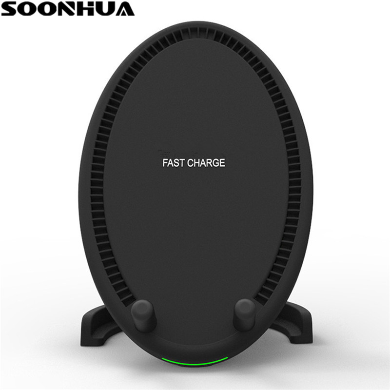 SOONHUA Universal Qi Wireless Charger USB Fast Quick Charging Heat Dissipation Charge Pad For iPhone X