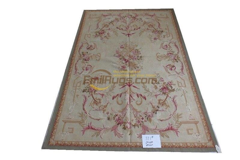 Vintage Aubusson tapis panneau laine tissé à la main décor à la maison Rectangle tapis turc tapis vente