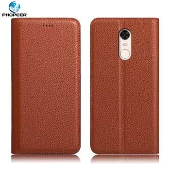 Luxury Ultra thin Business Genuine Leather Case For Xiaomi Redmi 5 plus Mobile Phone Bag For Redmi5 plus Case Cover