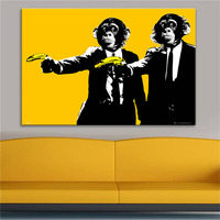 Andy Warhol Banana Monkey Wall Pictures Creative Oil Painting Print Canvas Top Idea Decor Wall Art