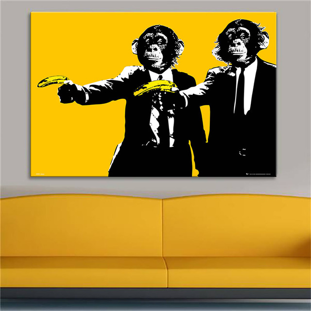 Andy Warhol Banana Monkey Wall Pictures Creative Oil Painting Print ...