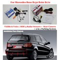 Car Parking Sensors + Rear View Back Up Camera = 2 in 1 Visual / BIBI Alarm Parking System For Mercedes Benz B150 B160 B170