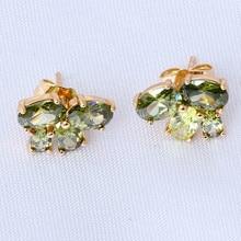 Nobby Peridot Stud Earrings for women 18k gold plated Green Crystal brand Health Nickel & Lead free Fashion jewelry JE744