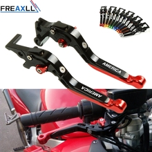 For TRIUMPH AMERICA 2004 2005 LT 2006-2016 Moto Levers Foldable Extendable Adjustable Motorcycle Brake Clutch