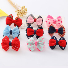Simple Bow Hair ring Sweet Hair accessories Lovely princess Three-dimensional 1PC Head rope(China)
