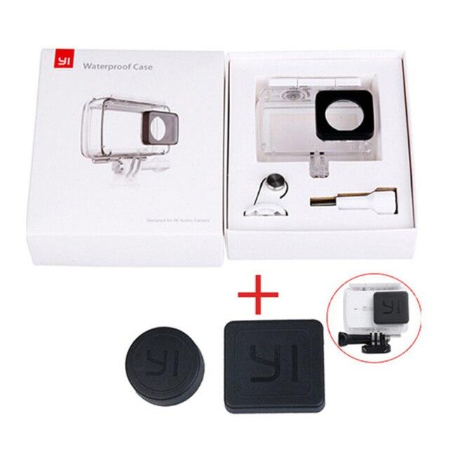 Nova chegada Caso de Mergulho À Prova D' Água para Xiaomi Originais YI Action Camera habitação Caso Xiao mi YI Xiaoyi II 2 4 K 4 K 2 acessórios