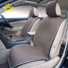 ROWNFUR Flax Automobiles Seat Covers Fit Front Universal Car Seat Covers Four Seasons