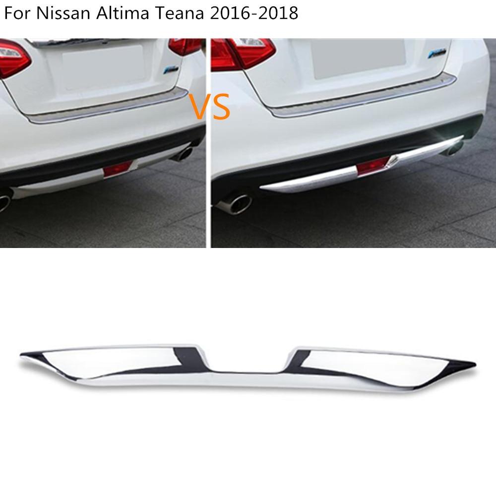 Rear Under Bumper Cover Trim Chrome ABS 1pcs For Nissan Teana Altima 2016-2017