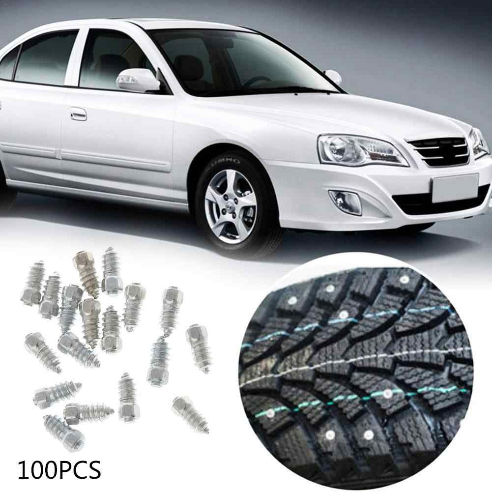 100PCS/Pack 12mm Stud Screw Auto Car Tires Studs Screw Snow Spikes Wheel Tyres ATV Anti-Slip Screw Stud Car Motorcycle Tires