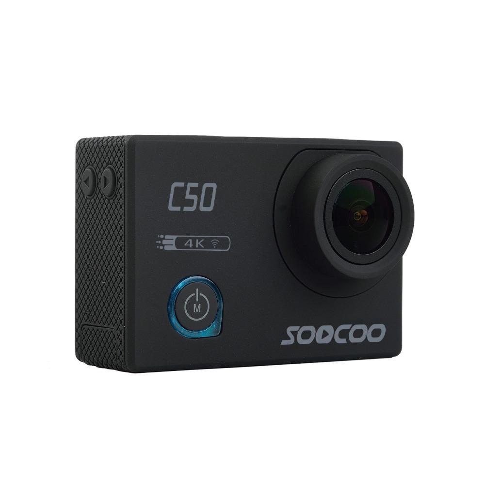 Prix pour Soocoo c50 d'action 4 k sport caméra wifi gyro réglable angles de vision ntk96660 30 m étanche sport dv action cam