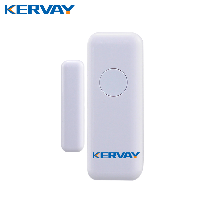 Kervay white color 433mhz wireless Door Window Interlligent security Sensor for K-PG103 WIFI 3G GSM Smart Home alarm system forecum 433mhz wireless magnetic door window sensor alarm detector for rolling door and roller shutter home burglar alarm system