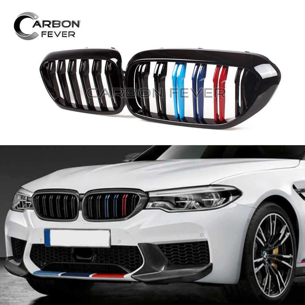 G30 G31 Black Front Grille F90 M5 Kidney Grill For Bmw 5 Series 2017 2018