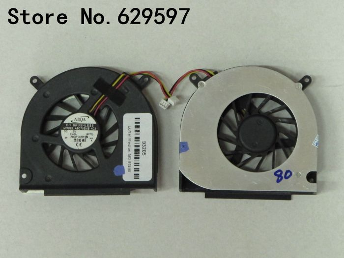 laptop cpu cooling fan FOR Medion Akoya P8610 fan ventilateur P8611 P8612 MD97490 ADDA AB0705MB-H03 AB0705MX-H03 9070 5V 0.4A(China)