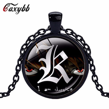 Anime Death Note High Quality Pendant Necklace Jewelry Crystal  Glass Animated Round Dome Necklace