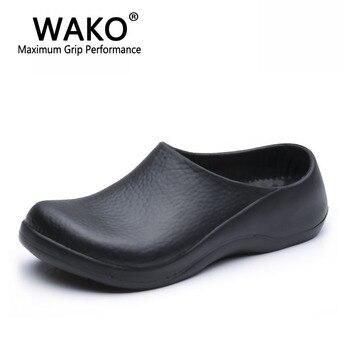 WAKO 9051 Chef Schuhe Für Männer Schwarz Sandalen Für Küche Restaurant  Arbeitsschuhe Super Sicherheitsschuhe Anti Rutsch Clogs Größe 39 45