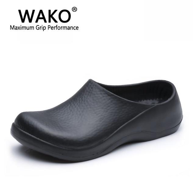 2841d540040 WAKO 9051 zapatos de Chef para hombres sandalias negras para cocina  restaurante zapatos de trabajo zapatos