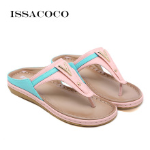 купить ISSACOCO Women'S Slippers Summer Beach Slippers Casual Beach Women Slipper Flip Flops Sandals Summer Home Flat Flip Flops Shoes по цене 1340.38 рублей