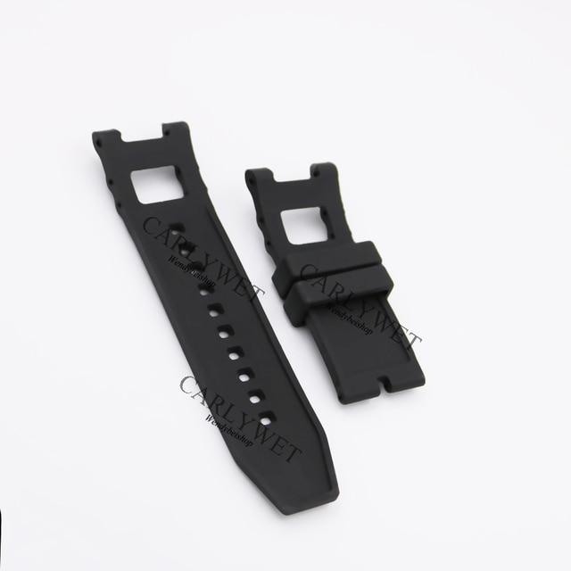 Carlywet 28mm 블랙 스트랩 방수 고무 교체 시계 밴드 벨트 invicta 6043 스타일에 대한 특별 인기
