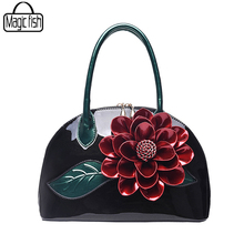 Big Flower Women Leather Handbags Luxury Women Handbag Famous Brands Female Tote Women Shoulder Bag Vintage Women Bag ZCP187/l