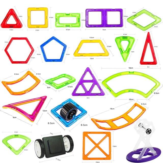 1PC Big Size Magnetic Blocks 3D DIY Modeling Construction Building Blocks Magnetic Designer Educational Toys for Children Gifts
