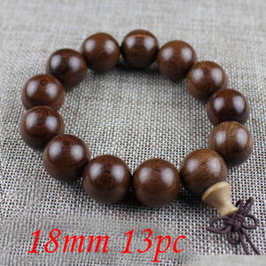 Image 5 - Yanqi 6 20mm wood sandalwood prayer beads elastic bracelet men jewelry Authentic African Buddha wood bead bracelet beads